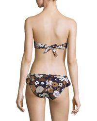 Michael Kors - Black Two-piece Ruffled Bandeau Bikini - Lyst