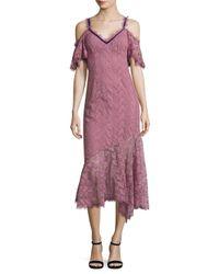 Nanette Lepore - Purple Debbie Cold Shoulder Dress - Lyst