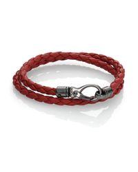 Tod's | Orange Leather Double-wrap Bracelet for Men | Lyst