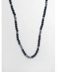 Stephen Webster | Gray No Regrets Beaded Necklace for Men | Lyst