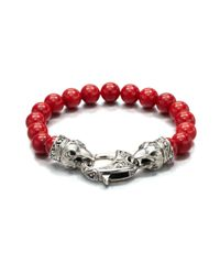 Stephen Webster | Red Coral Beaded Bracelet for Men | Lyst