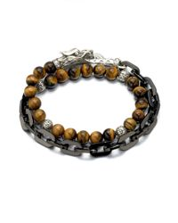 John Hardy | Multicolor Naga Silver Beaded Bracelet for Men | Lyst