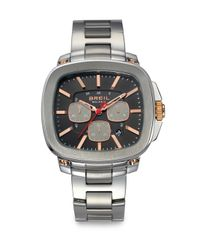 Breil   Gray Stainless Steel Chronograph Watch for Men   Lyst