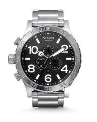 Nixon | Metallic Chronograph Stainless Steel Bracelet Watch | Lyst