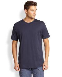 Hanro | Blue Night & Day Crewneck Tee for Men | Lyst