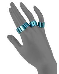 Maison Margiela - Knuckle Duster Ring Set/blue - Lyst