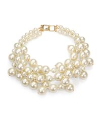 Kenneth Jay Lane | White Faux Pearl Multi-strand Necklace | Lyst