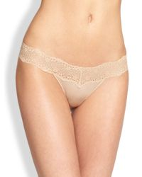 Le Mystere - Natural Perfect Pair Lace Bikini Briefs - Lyst