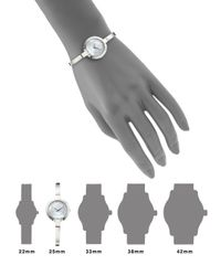 Movado Metallic Bela Stainless Steel & Mother-of-pearl Bangle Bracelet Watch