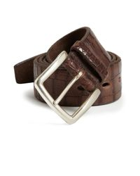 Orciani | Brown Embossed Leather Belt | Lyst