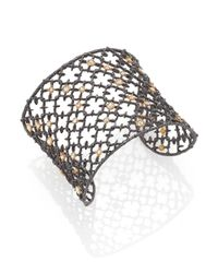 Alexis Bittar | Metallic Elements Crystal Studded Spur Lace Cuff | Lyst