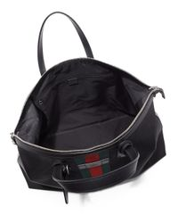 Gucci | Black Techno Canvas Duffel Carry-on Bag for Men | Lyst