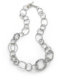 Ippolita | Metallic Glamazon Sterling Silver Bastile Element Short Link Chain Necklace | Lyst