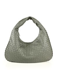 Bottega Veneta | Gray Veneta Medium Hobo Bag | Lyst
