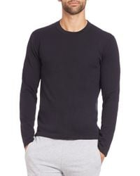 Michael Kors | Black Compact Cotton Long-sleeve Tee for Men | Lyst