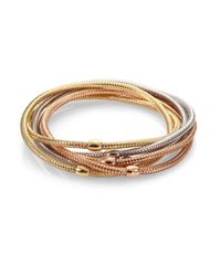 Roberto Coin | Metallic Primavera 18k White, Rose & Yellow Gold Six-row Bracelet | Lyst