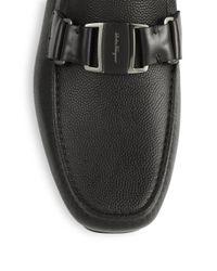 Ferragamo - Black Sardegna Pebbled Leather Loafers for Men - Lyst