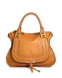 Chloé | Brown Marcie Large Leather Satchel | Lyst