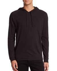 Vince - Black Pullover Hoodie for Men - Lyst