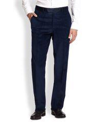 Saks Fifth Avenue | Blue Corduroy Trousers for Men | Lyst