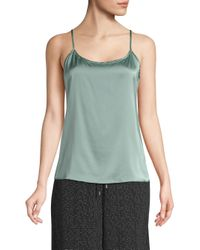 Eileen Fisher Green Women's Scoopneck Camisole - Elm