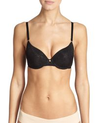 Natori Foundations | Black Sheer Jacquard Full-fit Bra | Lyst