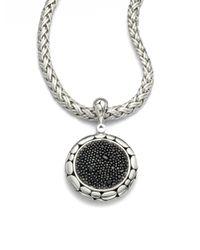 John Hardy   Metallic Kali Black Sapphire & Sterling Silver Lava Enhancer   Lyst