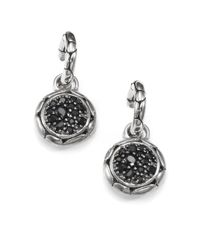 John Hardy | Metallic Kali Black Sapphire & Sterling Silver Small Hoop Drop Earrings | Lyst