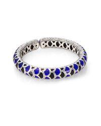 John Hardy | Blue Naga Enamel & Sterling Silver Slim Flex Cuff Bracelet | Lyst
