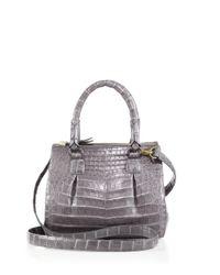 Nancy Gonzalez | Gray Crocodile Mini Pliss & #233 Crossbody Bag | Lyst