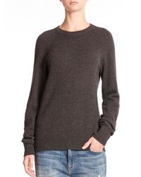 Equipment - Gray Sloane Solid Cashmere Pullover - Lyst