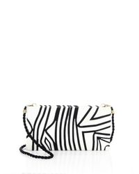 BEATRIZ - White Tropical Edge Large Convertible Clutch - Lyst