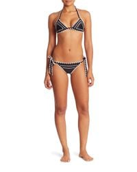 Same Swim - Black Catch Bikini Triangle Top - Lyst