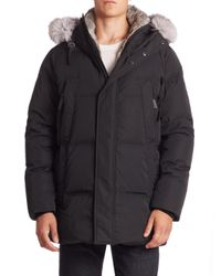 Andrew Marc | Black Freezer Rabbit Fur Jacket for Men | Lyst