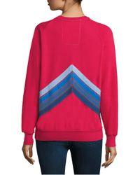 Aviator Nation Pink Mountain Crewneck Sweater