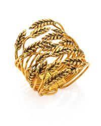 Aurelie Bidermann - Metallic Wheat Cuff Bracelet - Lyst