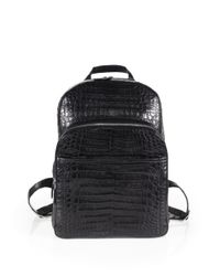 Santiago Gonzalez - Gray Crocodile Backpack for Men - Lyst