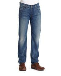 7 For All Mankind - Blue Slimmy Slim Straight-leg Jeans for Men - Lyst