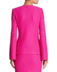 St. John Pink Split Sleeve Jacket