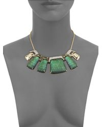 Alexis Bittar | Multicolor Lucite Rocky Metal Bib Necklace | Lyst