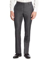 Officine Generale - Gray Paul Regular-fit Wool Pants for Men - Lyst
