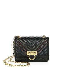 Ferragamo Black Capsule Zigzag Small Leather Shoulder Bag