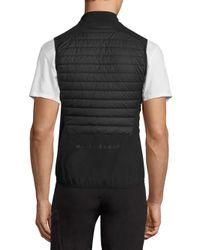 J.Lindeberg - Black Quilted Hybrid Vest for Men - Lyst