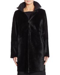 Akris - Black Reversible Fur Jacket - Lyst