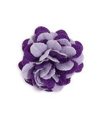 Hook + Albert | Purple La Young Lapel Flower | Lyst