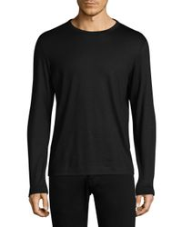 Theory - Black Adept Crewneck Wool Tee for Men - Lyst