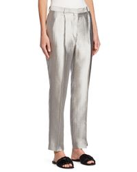The Row - Gray William Wool & Silk Pants - Lyst