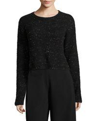Public School - Black Sana Speckled Wool Knit Sweater - Lyst