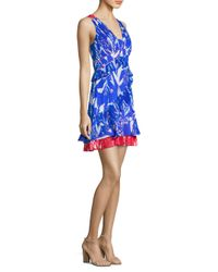 Tanya Taylor Blue Eva Tulip Dress