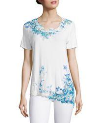 Elie Tahari Blue Samara Knit Top